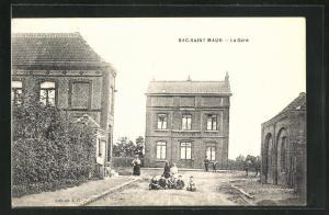 AK Bac-Saint Maur, La Gare, Bahnhof