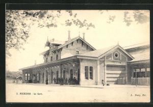 AK Arcachon, La Gare, Bahnhof