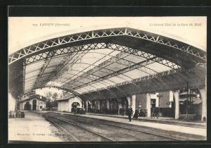 AK Langon, Le Grand Hall de la Gare du Midi, Bahnhof