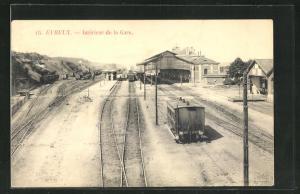 AK Evreux, Interieur de la Gare, Bahnhof
