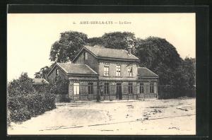 AK Aire-Sur-La-Lys, La Gare, Bahnhof