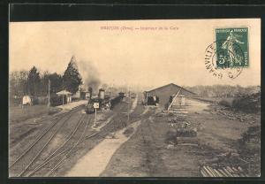 AK Briouze, Interieur de la Gare, Bahnhof
