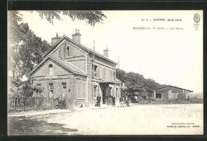 AK Marceuil, La Gare, Bahnhof