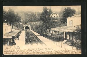 AK Ville d'Avray, Gare de Sévres, Bahnhof