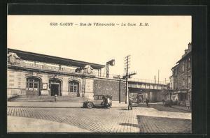 AK Gagny, Rue de Villemomble, La Gare, Bahnhof