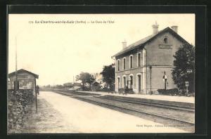 AK La Charte-sur-le-Loir, La Gare de l'Etat, Bahnhof