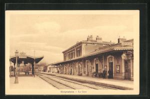 AK Carpentras, La Gare, Bahnhof