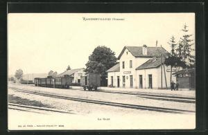 AK Rambervillers, La Gare, Bahnhof