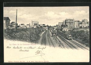 AK Garenne-Bezons, La Gare, Bahnhof