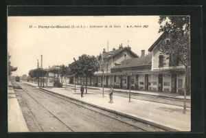 AK Paray-le-Montal, Interieur de la Gare, Bahnhof