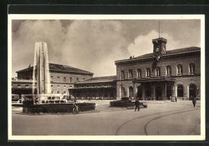 AK Bologna, Piazza Stazione Ferroviaria, Bahnhof