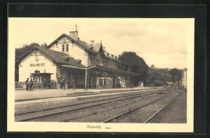 AK Malmédy, La Gare, Bahnhof