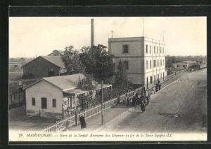AK Mansourah, Gare de la Societe Anonymé des Chemin de fer de la Basse Egypte, Bahnhof