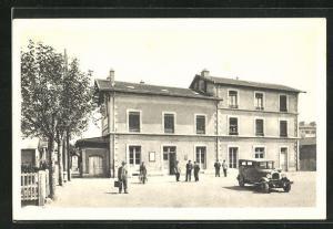 AK Venissieux, La Gare, Bahnhof