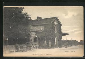 AK Beauquesne, La Gare, Bahnhof
