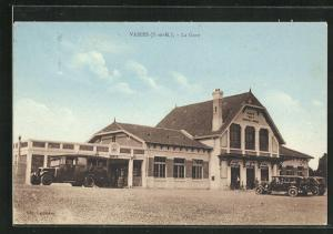 AK Vaires, La Gare, Bahnhof