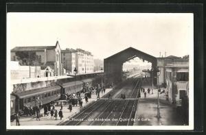 AK Toulon, Vue générale des Quais de la Gare, Bahnhof