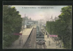 AK Enghien-les-Bains, Vue générale de la Gare, Bahnhof