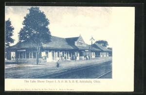 AK Ashtabula, OH, The Lake Shore Depot, Bahnhof