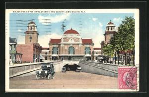 AK Birmingham, AL, Terminal Station and Subway, Bahnhof