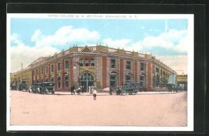 AK New York-Brooklyn, NY, Long Island Station, Bahnhof