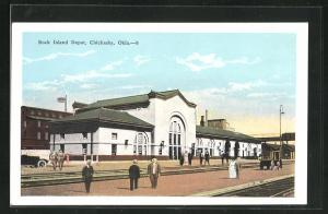 AK Chickasha, OK, Rock Island Depot, Bahnhof