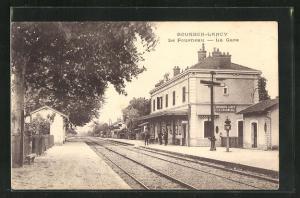 AK Bourbon-Lancy, La Fourneau, La Gare, Bahnhof