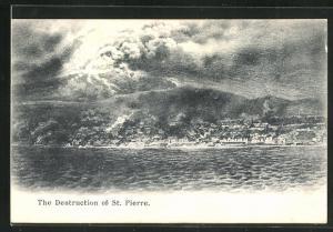 AK St. Pierre, The Destruction of St. Pierre, Vulkanausbruch