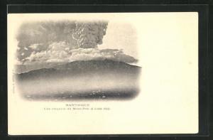 AK Une éruption du Mont-Pelé, 6 Juillet 1902, Vulkanausbruch