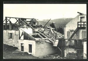 AK La Chaux-de-Fonds, Cyclone du 23 Aout 1934, Restaurant de La Loge, Unwetter