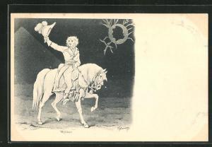 AK Kleber reitet auf seinem Pferd