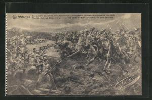 AK Waterloo, Les gardes anglaises et de Brunswick repoussent la cavalerie francaise 1815