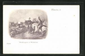 AK Waterloo, Wellington in Uniform zu Pferde