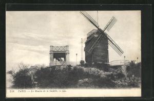 AK Paris, Le Moulin de la Galette, Windmühle