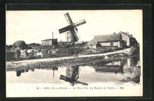 AK Dol, Le Mont Dol, Le Moulin du Tertre, Windmühle
