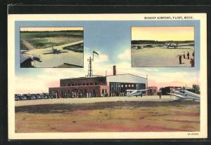 AK Flint, MI, Bishop Airport, Mehrfachansicht Flughafen