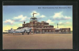 AK Minneapolis, MN, World-Chamberlain Field, Flughafen