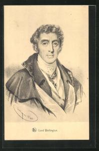 AK Lord Wellington, Waterloo, Portrait des Heerführers