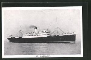 AK Passagierschiff S.S. Baltrover in ruhiger See fahrend