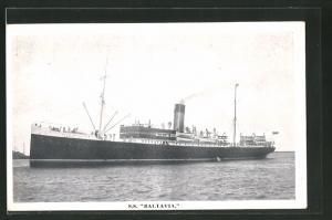 AK Passagierschiff S.S. Baltavia in ruhiger See fahrend