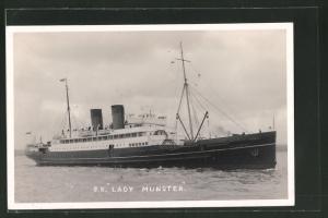AK Passagierschiff S.S. Lady Munster bei voller Fahrt