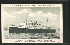 AK Passagierschiff T.S.S. Prince Henry bei der Hafeneinfahrt