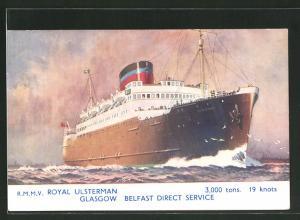 AK Passagierschiff Royal Ulsterman bei voller Fahrt