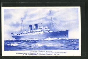 AK Passagierschiff S.S. Lady Leinster in voller Fahrt