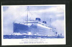 AK Passagierschiff Ulster Queen bei stürmischer See