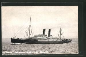 AK Passagierschiff S.S. Magic auf hoher See