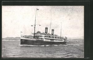 AK Passagierschiff Principessa Mafalda vor der Küste