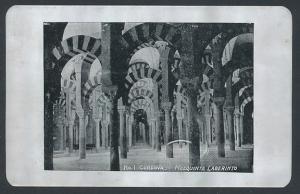 Blech-AK Cordoba, Mezquita Laberinto, Innenansicht der Mezquita