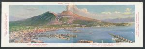 Klapp-AK Napoli, Panoramablick über die Stadt auf den Vulkan Vesuv