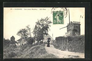 AK Sannois, Les vieux Moulins, Windmühle